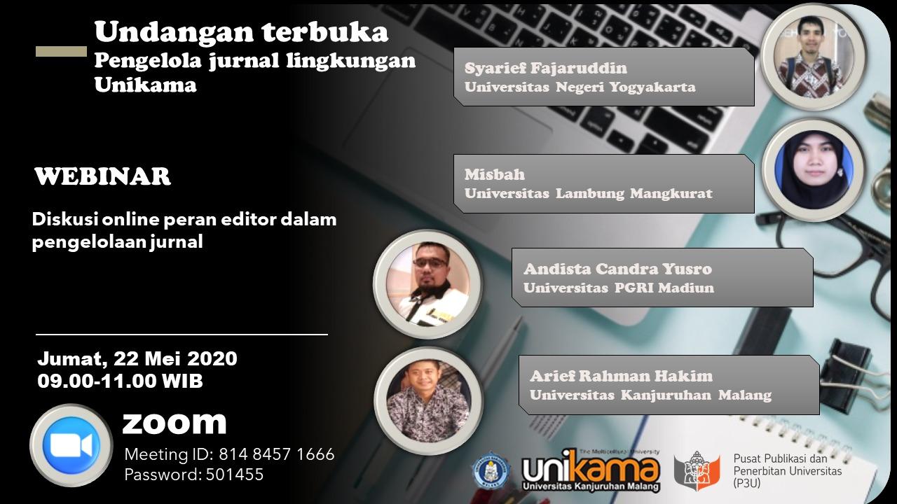 Diskusi Akreditasi Jurnal di Universitas Kanjuruhan Malang
