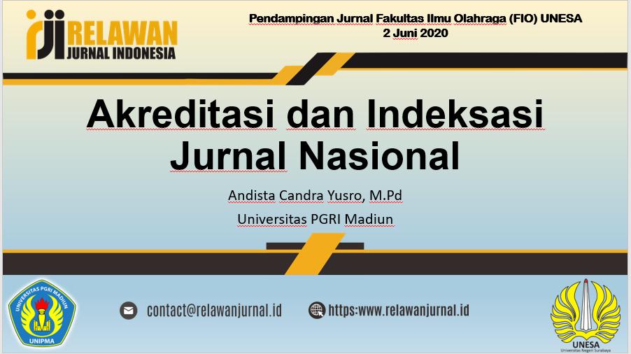 Pendampingan Jurnal di Fakultas Ilmu Olahraga UNESA